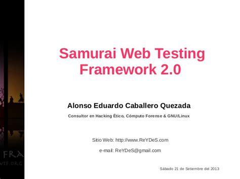 tutorial samurai web testing framework samurai web testing framework 2 0