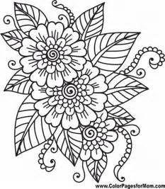 advanced coloring pages flower coloring 41 coloring pages flowers flowers style