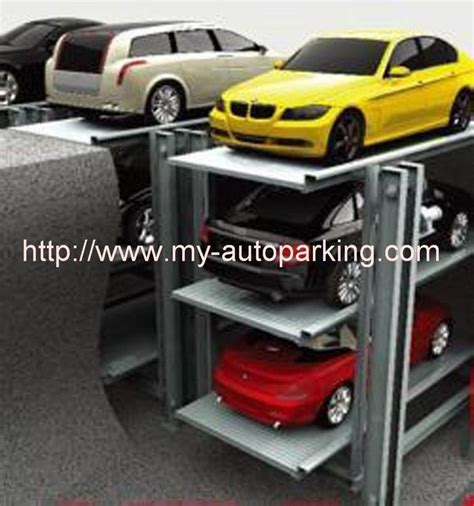 2 3 cars residential pit parking lifthydraulic garage car