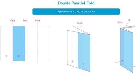 parallel fold template parallel fold brochure template gate fold