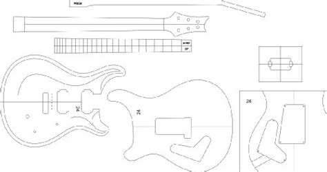 review electric guitar routing template prs24 by gpc