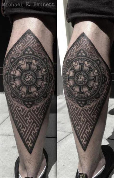 two spirit tattoo calf dotwork by 2 spirit