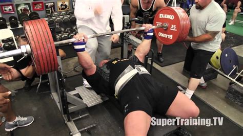 what is the world record for bench pressing eric spoto raw bench press world record all 3 lifts supertraining tv youtube