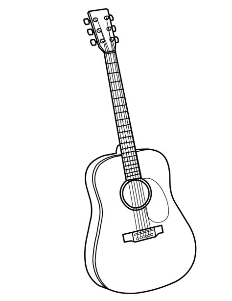printable coloring pages musical instruments guitar coloring page handipoints