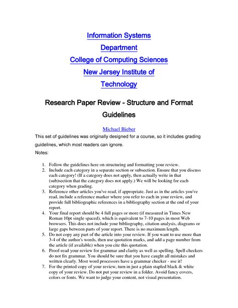 How To Make A Critique Paper - best photos of sle of research critique research