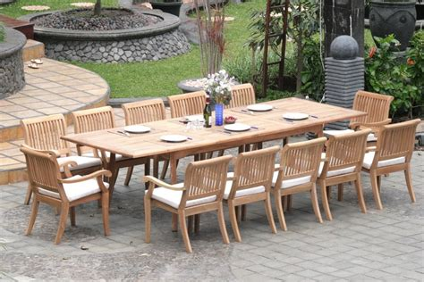 Patio Table Set Extending Teak Patio Table Vs Fixed Length Dining Table Pros And Cons Teak Patio Furniture World