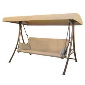 home depot patio swing hton bay 3 person futon patio swing