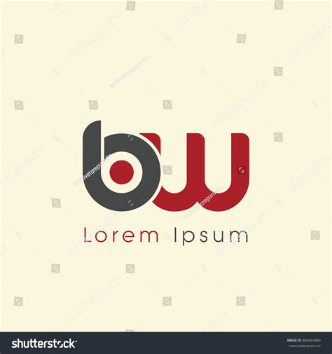 Service Letter B W Bw Initial Letter Linked Lowercase Logo Stock Vector 486964480