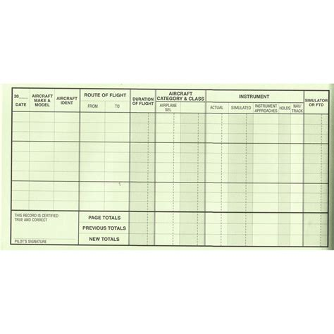 flight log template pilot s flight logbook and record from sporty s pilot shop