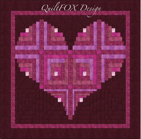 pattern for log cabin heart quilt log cabin heart quilt pattern valentine love wall