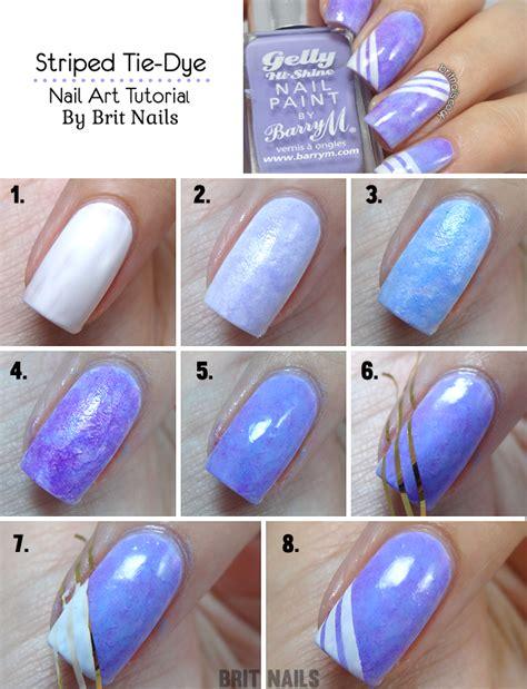 nail art tie dye tutorial striped tie dye tutorial brit nails