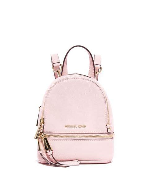 Michael Kors Rhea Backpack Mini 2 michael michael kors rhea mini backpack in pink blossom lyst