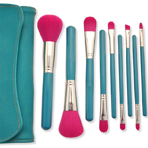 9 Makeup Brush Set 9 pcs synthetic hair makeup brush set cosmetic kits set