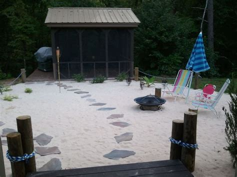 46 Best Images About Landscape Theme Tiki Beach On Backyard Themed Pit