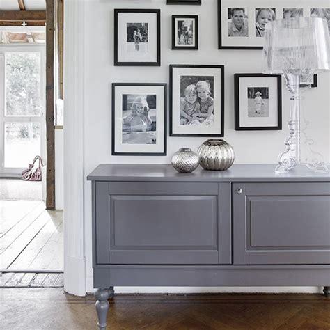 Hallway Sideboards simple white hallway with grey sideboard decorating housetohome co uk