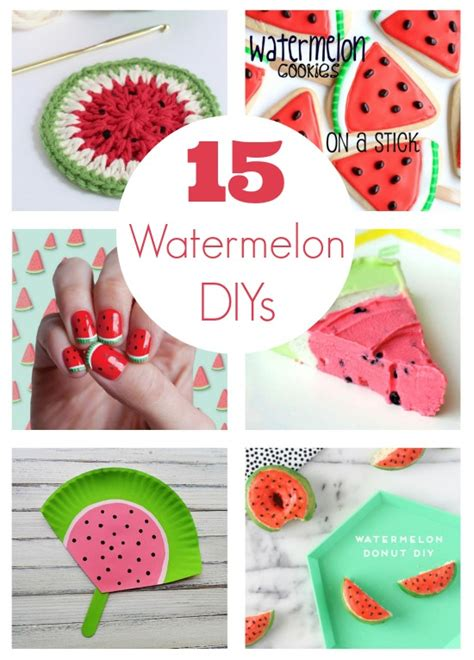 15 summer craft and diy ideas for the home setting for 4 15 watermelon diy projects for national watermelon day