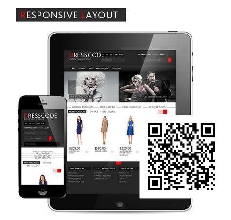 responsive oscommerce website theme dresscode premium