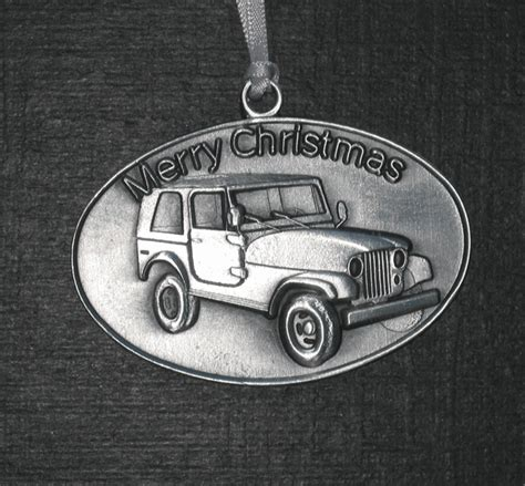 jeep christmas ornament all things jeep pewter christmas tree ornament