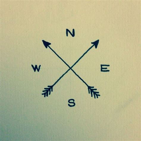 tattoo compass simple arrow compass tattoo idea tats pinterest