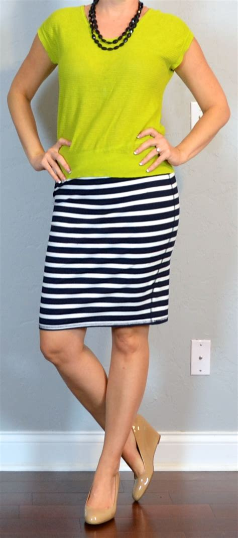 posts post citron green sweater striped