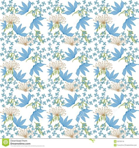 floral garden repeat pattern free flowers repeat pattern stock illustration illustration of