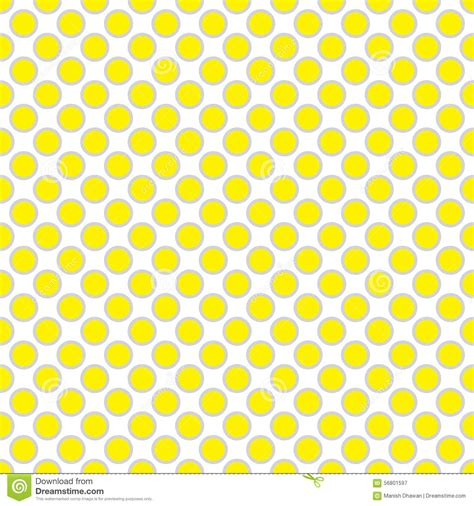 beautiful seamless vector polka dots pattern background can beautiful seamless yellow polka dot with border pattern
