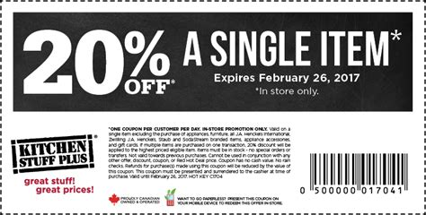 ls plus discount coupons kitchen stuff plus take 20 off a single item with coupon