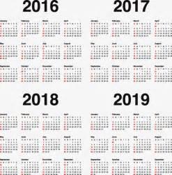 Calendario 2018 Y 2019 Calendario 2017 2018 2019 Png Y Vector Para Descargar