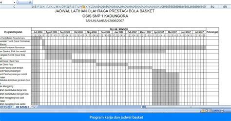 format analisis beban kerja pns contoh program kerja dan jadwal ekstrakulikuler olahraga