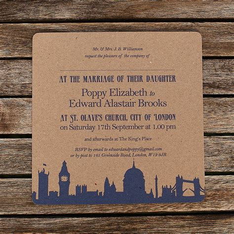 wedding invitation design london recycled london theme wedding invitations by artcadia