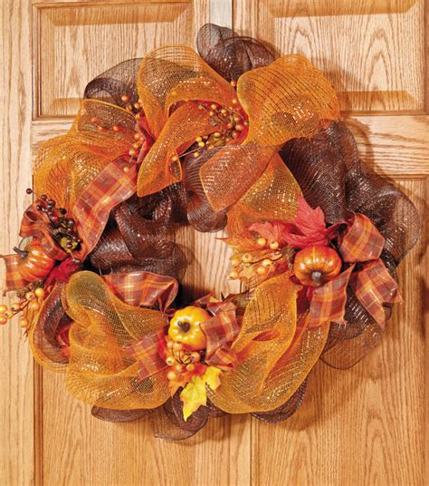 home made fall decorations 12 easy diy deco mesh wreaths for fall shelterness