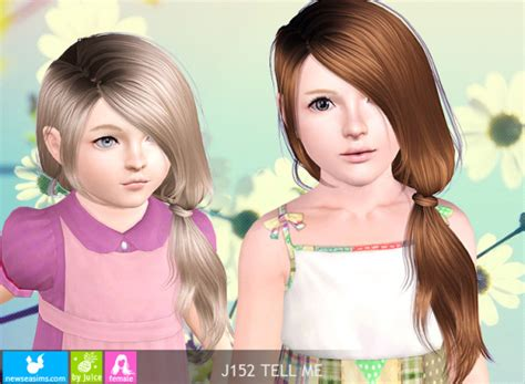 side ponytail sims 3 wrapped side ponytail j152 tell me by newsea sims 3 hairs