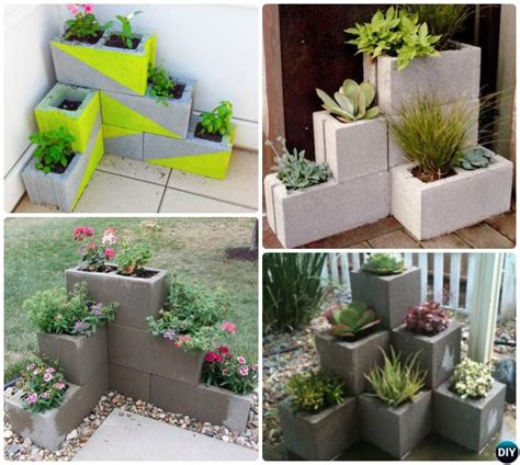 diy cinder block garden projects