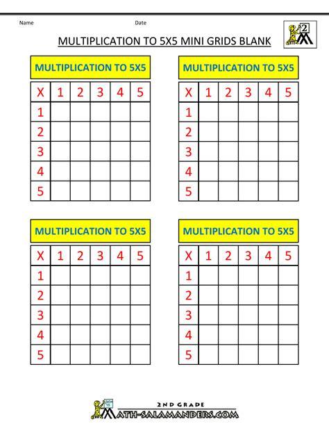 printable multiplication grid worksheet multiplication grid worksheet blank multiplication chart