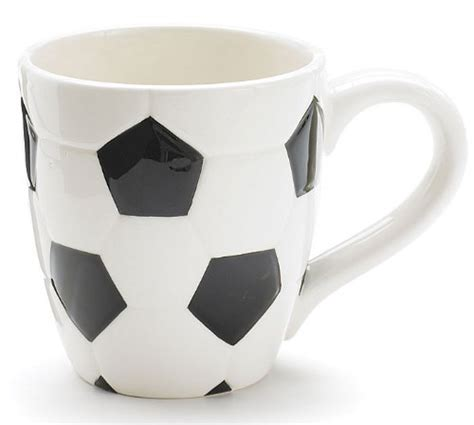 mug handles design ceramic soccer ball design sports coffee tea mug with