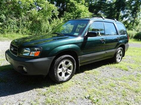 tan subaru forester purchase used one owner green tan 2004 subaru forester awd