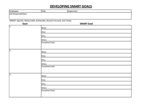 9 best images of free printable goals worksheet template