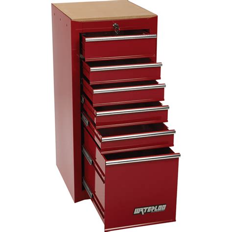 Waterloo Side Cabinet by Waterloo 6 Drawer Side Hang On Tool Cabinet 16in W X
