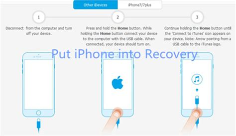 how to get an iphone into and out of recovery mode without data loss