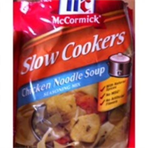 mccormick seasoning mix chicken noodle soup calories nutrition analysis more fooducate