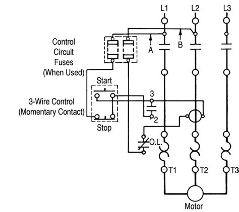 wiring diagram for motor starter 3 phase alexiustoday