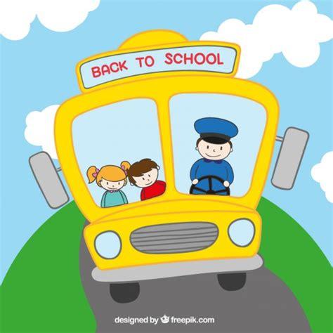imagenes buses escolares animados autob 250 s escolar frontal descargar vectores premium