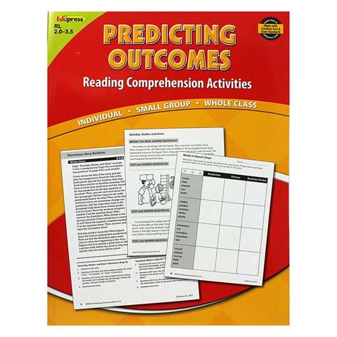 picture books for predicting predicting outcomes book level ep 2376 edupress