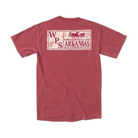 arkansas razorback wps comfort colors garment dyed