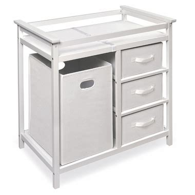 Badger Basket Modern Changing Table Badger Basket Modern Changing Table With 3 Baskets Her In White Free Shipping