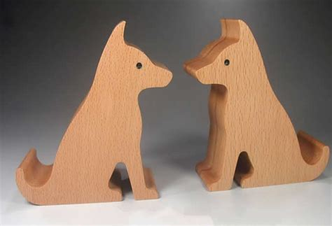 Pen Organizer For Desk by Wooden Dog Shaped Mobile Phone Ipad Holder Stand Feelgift