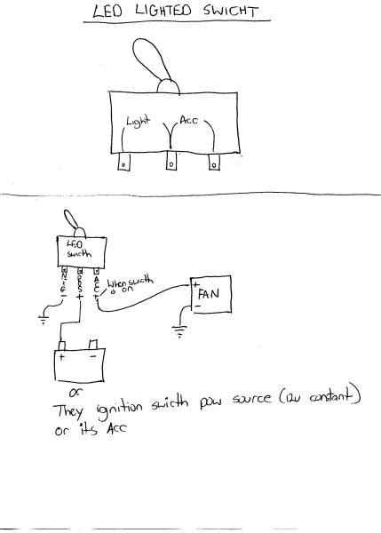 wire  toggle switch   radiator fan honda tech honda forum discussion