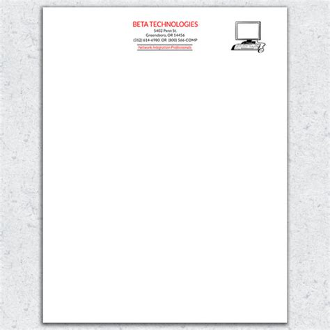 Free Letterhead Template 7 Email Stationery Templates Free 2