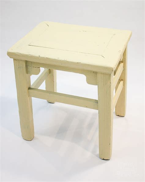 chalk painted wooden stool pretty handy