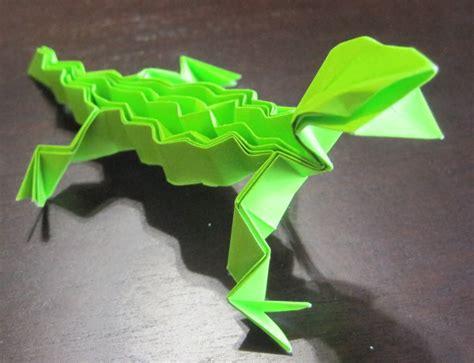 Origami Gecko - origami lizard graceincrease custom origami